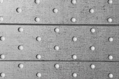 Steel perforated metallic background Stock Image