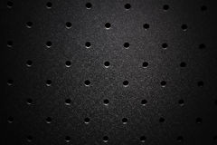 Steel perforated texture Stock Photography