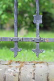 Steel picket fence Stock Photography