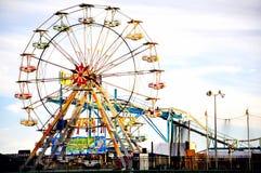 Steel Pier Amusement in Atlantic City, New Jersey. Pictures of boardwalk in Atlantic City, New Jersey Royalty Free Stock Photos