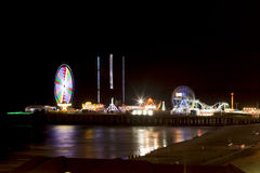 Steel Pier - Atlantic City, New Jersey (night) Stock Image