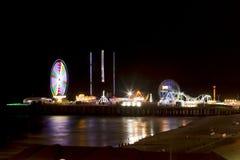 Steel Pier - Atlantic City, New Jersey (night) Stock Image
