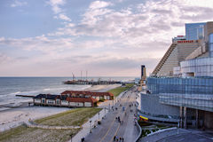 The Steel Pier and casinos at Atlantic City, USA Stock Image
