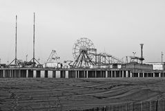 Steel Pier retro look Stock Photo