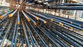 Steel piling Stock Image