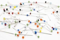 Steel pins Stock Image