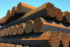 Steel pipe Royalty Free Stock Photos