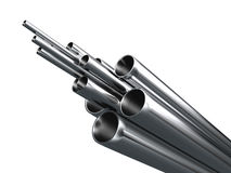 Steel Pipe. On white background Stock Image