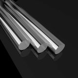 Steel pipe. With black background royalty free illustration