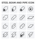 Steel Pipe Beam. Vector icon of steel pipe and beam product  for construction industry work Royalty Free Stock Photography