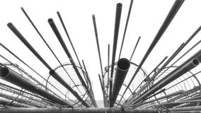 Steel pipe. Contruction steel  things Royalty Free Stock Images