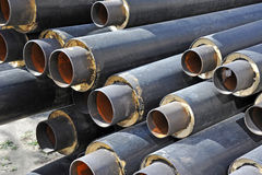 Steel pipe with heat insulation Stock Photography