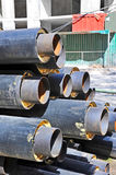 Steel pipe with heat insulation Royalty Free Stock Images