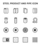 Steel Pipe Icon. Vector icon of steel pipe and metal product  for construction industry work Royalty Free Stock Photos