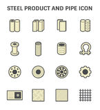 Steel Pipe Icon. Vector icon of steel pipe and metal product  for construction industry work Royalty Free Stock Image