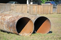 Steel pipe Stock Photos