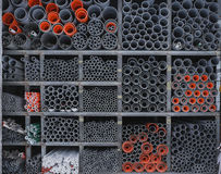 Steel pipe in patten. At store taipei stock photo