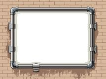 Steel pipe photo frame Royalty Free Stock Photo