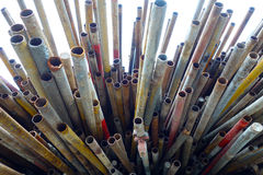 Steel pipe Stock Image