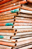 Steel pipe scaffold Royalty Free Stock Photos