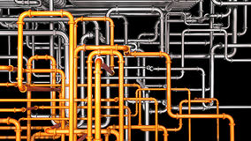 Steel Pipeline Background Royalty Free Stock Image