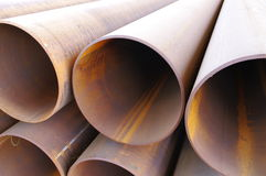 Steel Pipelines Stock Photography