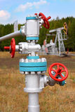 Steel pipelines Royalty Free Stock Image