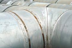 Steel pipelines Royalty Free Stock Photo