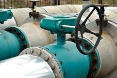 Steel pipelines Stock Photo