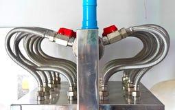 Steel pipelines stock photos