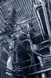 Steel pipelines and equipment. In thermal power plant Stock Photos