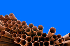 Steel pipes Royalty Free Stock Photos