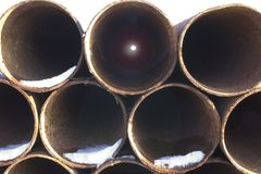 Steel pipes 2 Stock Photo