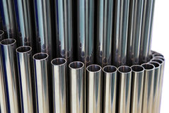 Steel pipes Stock Photography