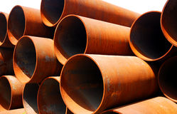 Steel pipes stock photo