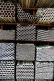 Steel pipes Stock Image