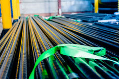 Steel pipes with anti-corrosion. Covering small size for gas network Royalty Free Stock Photos