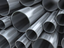 Steel pipes background Royalty Free Stock Photos