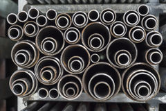 Steel pipes background Royalty Free Stock Images