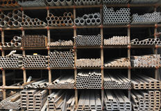 Steel pipes in china Royalty Free Stock Photo