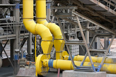 Steel pipes and conveyors Stock Photo