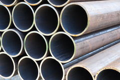 Steel pipes front view 2 Stock Photography