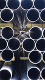 Steel Pipes Industrial Stock Image