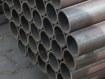 Steel pipes - Metal background - Stock Photos Royalty Free Stock Images