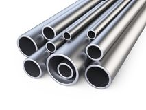 Steel pipes profile stack. Royalty Free Stock Photography