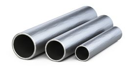 Steel pipes profile. Royalty Free Stock Images
