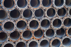 Steel pipes texture background Stock Images