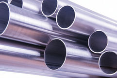 Steel pipes Royalty Free Stock Images