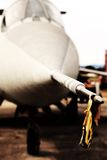 Steel Pitot static system in the supersonic jet Royalty Free Stock Photos