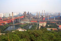 Steel plant Royalty Free Stock Image